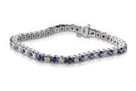 Diamond and Sapphire Tennis Bracelet