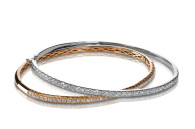 Set of diamond bracelets rose and white gold