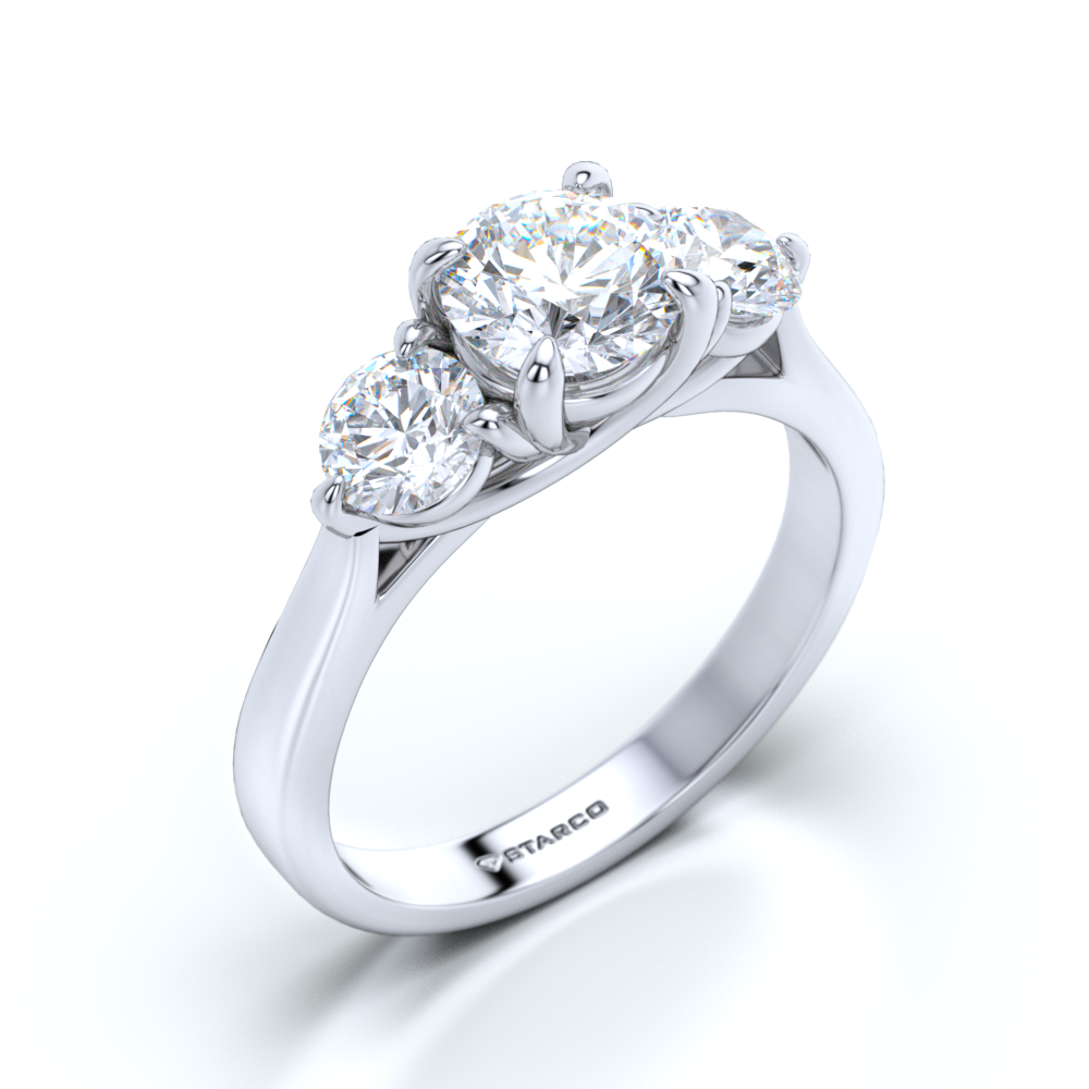 lugaro rings vancouver diamond certified ring gia trilogy bridal past present jewellery future